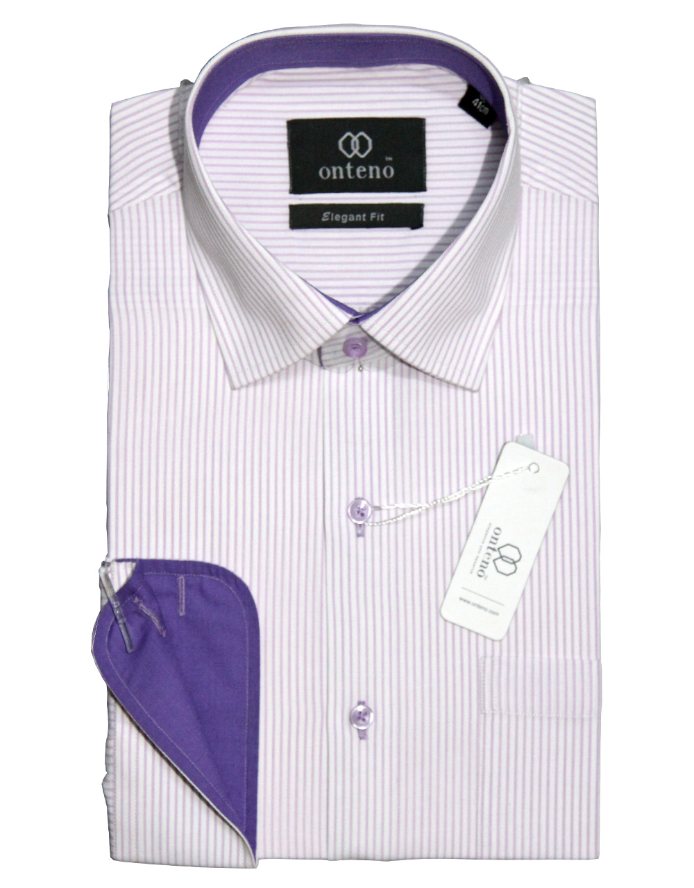 White shirt with purpal striped inner collar cuff for Blue and white striped shirt with white collar