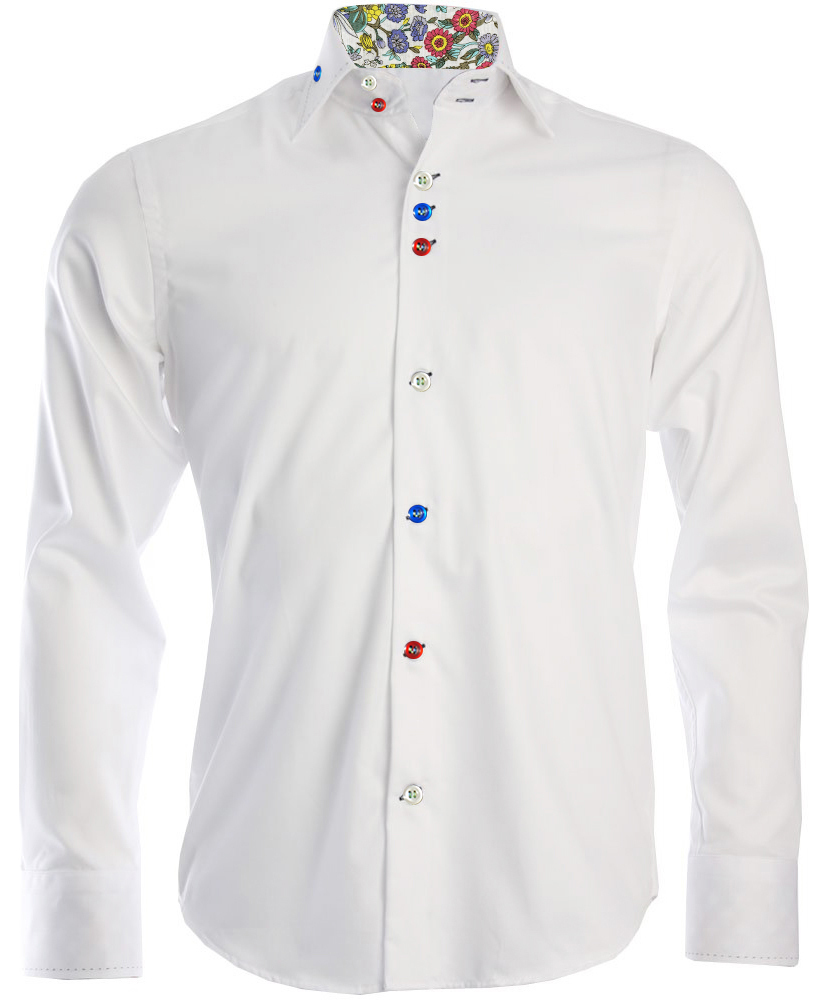 Men 39 s white regular fit formal shirt for Boys white formal shirt