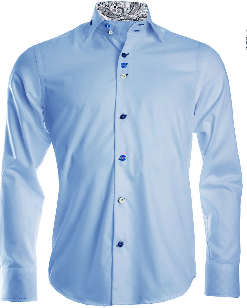 mens blue formal shirt