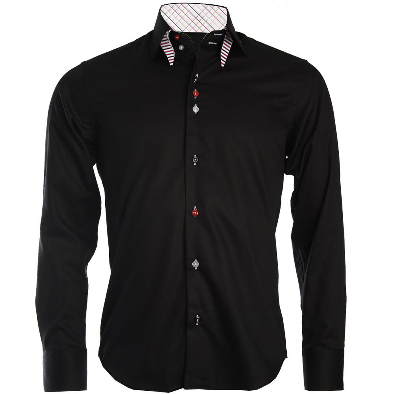 Men 39 s double button collar shirt for Mens button collar shirts
