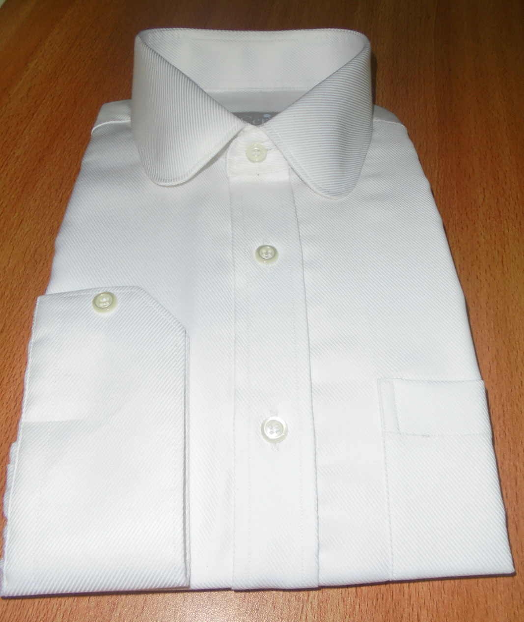Vintage Eton Club Round Collar Twills Dress Shirt