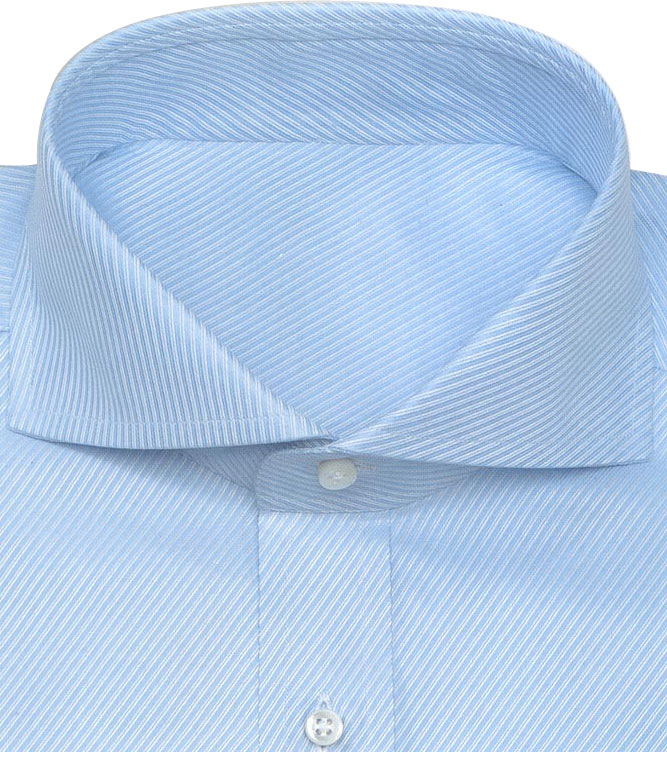 Extreme cut away collar shirts