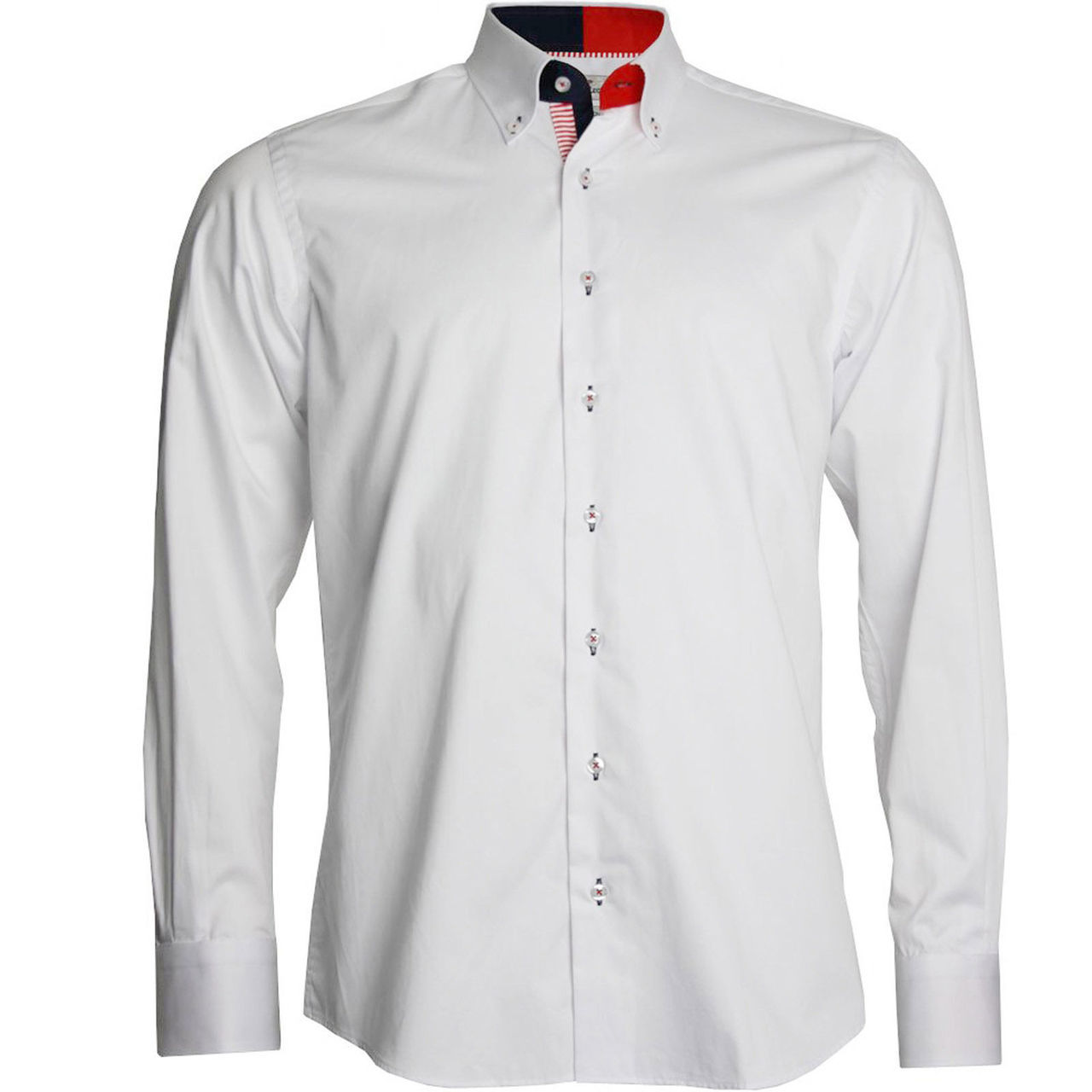 Mens White Collar Dress Shirts