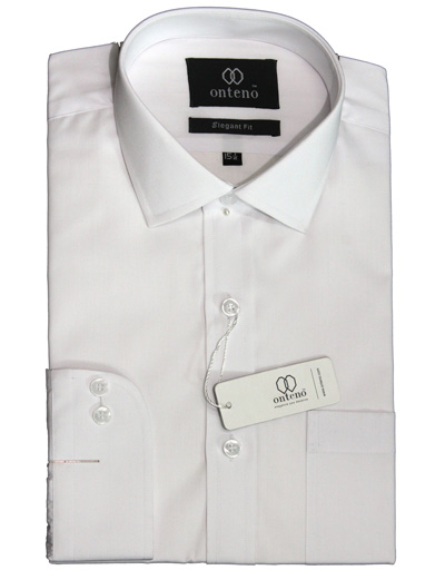 White Cotton Traditional Dress Shirt