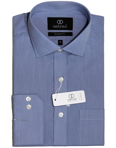 Blue Shambray Dress Shirt