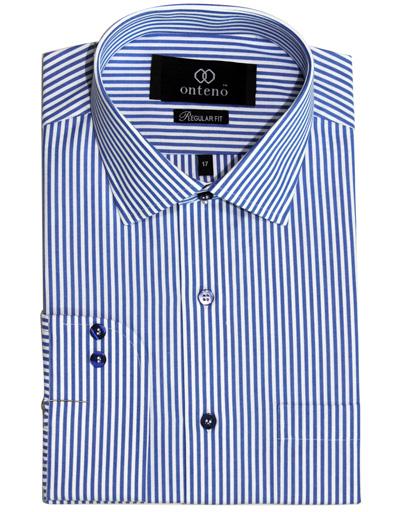 Medium Blue/White striped dress shirt