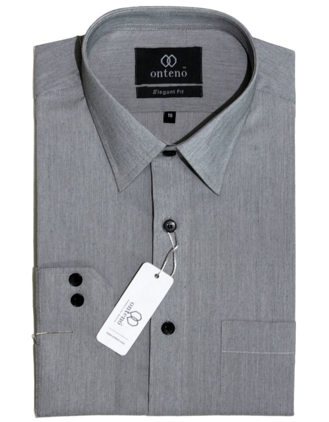 Slate Gray Chambray Dress Shirt