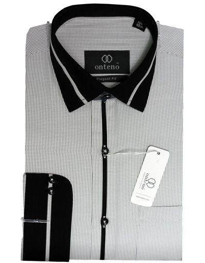 Black/White Check With Black(Complete Collar, Cuff)