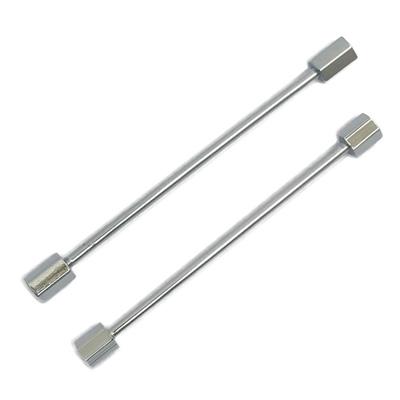 Hexagonal Silver tie pin bar