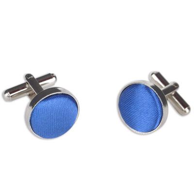 Blue Round Cufflink