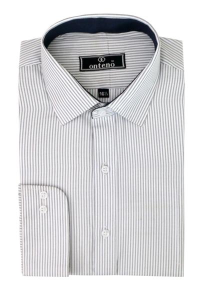 Gray/White Stripes With Black Inner Collar