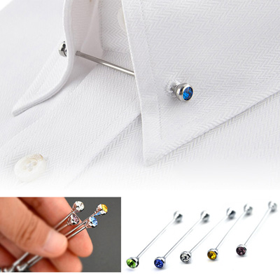Crystal Colored Collar Pin Bar