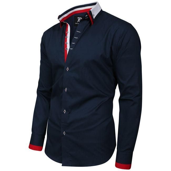 Men's Italian Style Triple Collar Regular Fit Formal Shirt
