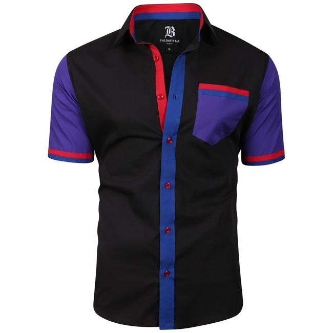 Men's Italian Style Short Sleeve Regular Fit Shirt Black