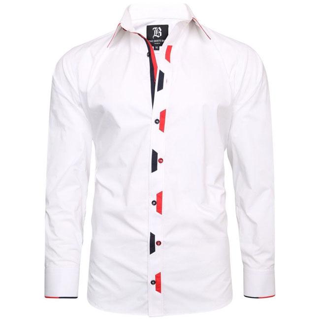 Men's Italian Style White Regular Fit Formal Shirt