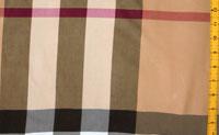 Beige/Dark Red/Black/White Cotton Plaids