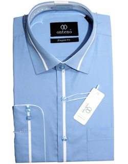 Blue shirt with White Contrasts