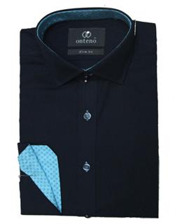Navey blue shirt blue inner collar & cuff