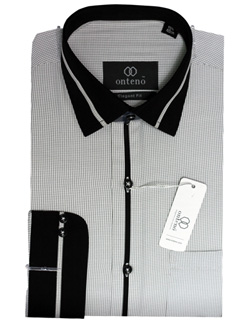 Black/White Check With Black(Complete Collar, Cuff)