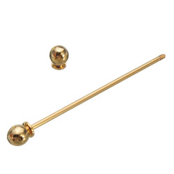 Golden Collar Pin Bar  Round Eyelet
