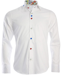 Men's White Regular Fit Formal Shirt