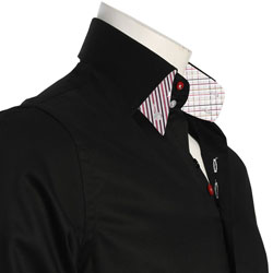 Men's Double Button Collar Shirt