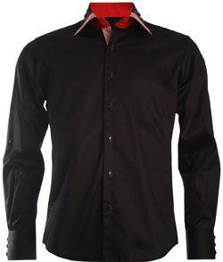 Men's Italian Style Black Shirt