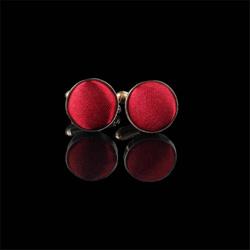Red Round Cufflink