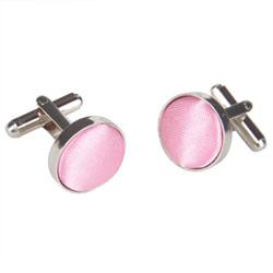 Pink Round Cufflinks