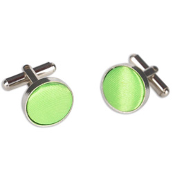 Light Green Round Cufflinks