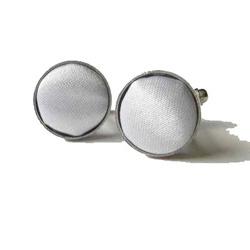 Silver Round Cufflinks