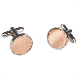 Light Brown Round Cufflinks