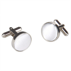 Light Gray Round Cufflinks