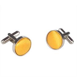 Orange Round Cufflinks