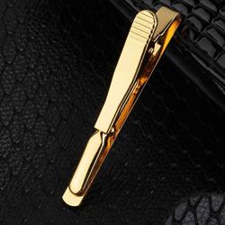 Golden Necktie Tie Bar Clasp Clip
