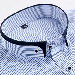 Blue Stripes collar closeup