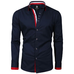 Men's Italian Style Triple Collar Regular Fit Formal Shirt