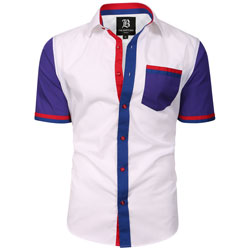 Men's Italian Style Short Sleeve Regular Fit Shirt White