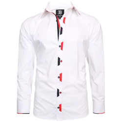 Men's Italian Style White Regular Fit Formal Shirt